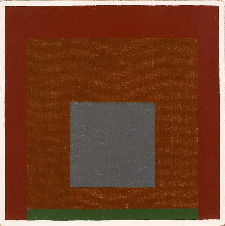 Josef Albers, Homage to the Square, 1962, oil on Masonite, 16 by 16 inches.