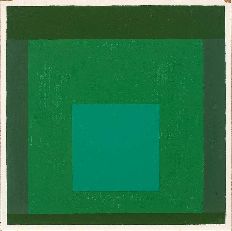 Josef Albers, Homage to the Square, n.d., oil on Masonite, 16 by 16 inches