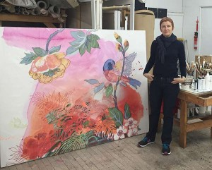 Elizabeth Condon in her studio