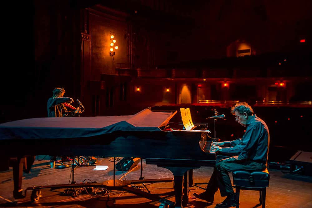 Philip Glass and Laurie Anderson collaborate through spoken word and sound
