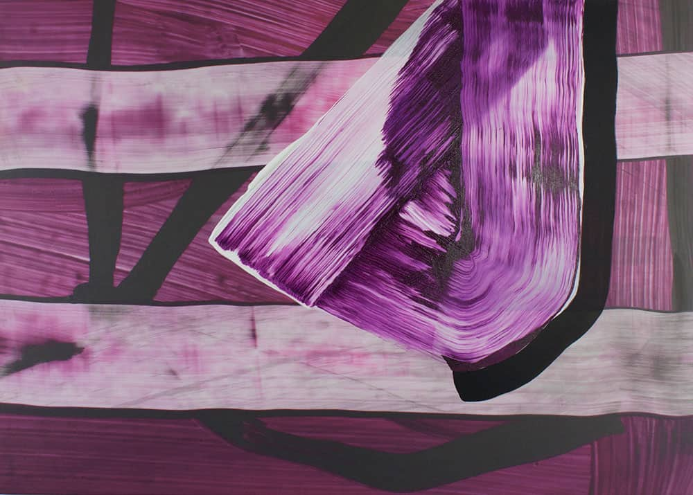 More Than Ever (2015), acrylic and archival ink on canvas, 48 by 52 inches, by Kate Petley