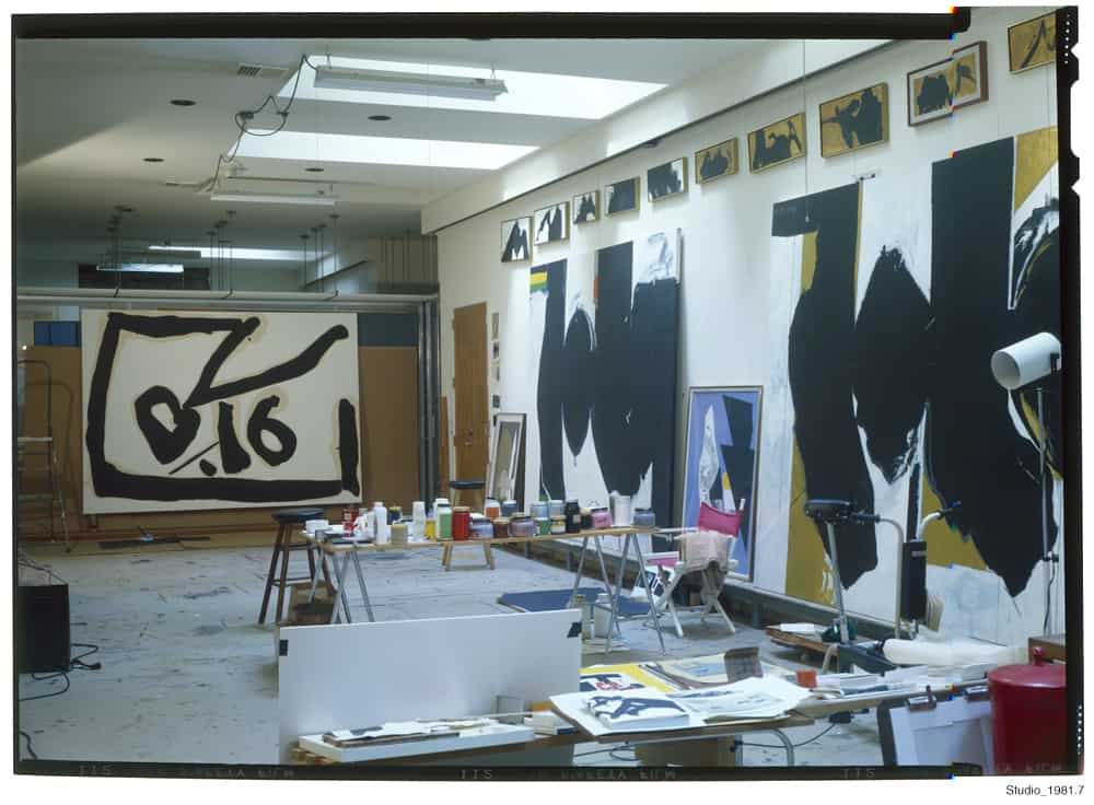 Robert Motherwell's collage studio.