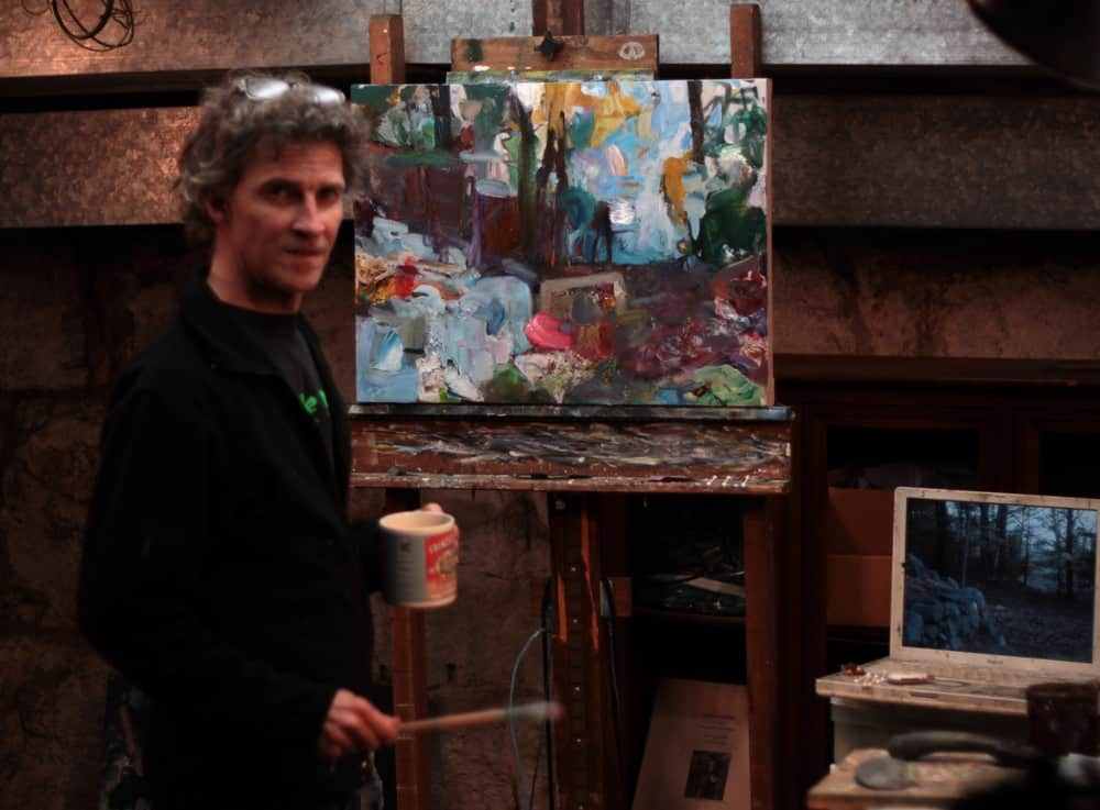 Morgan Russell in his studio