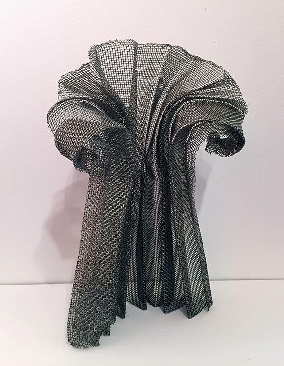 Rosemarie-Castoro-Ironic-Column-2001-aluminum-mosquito-net