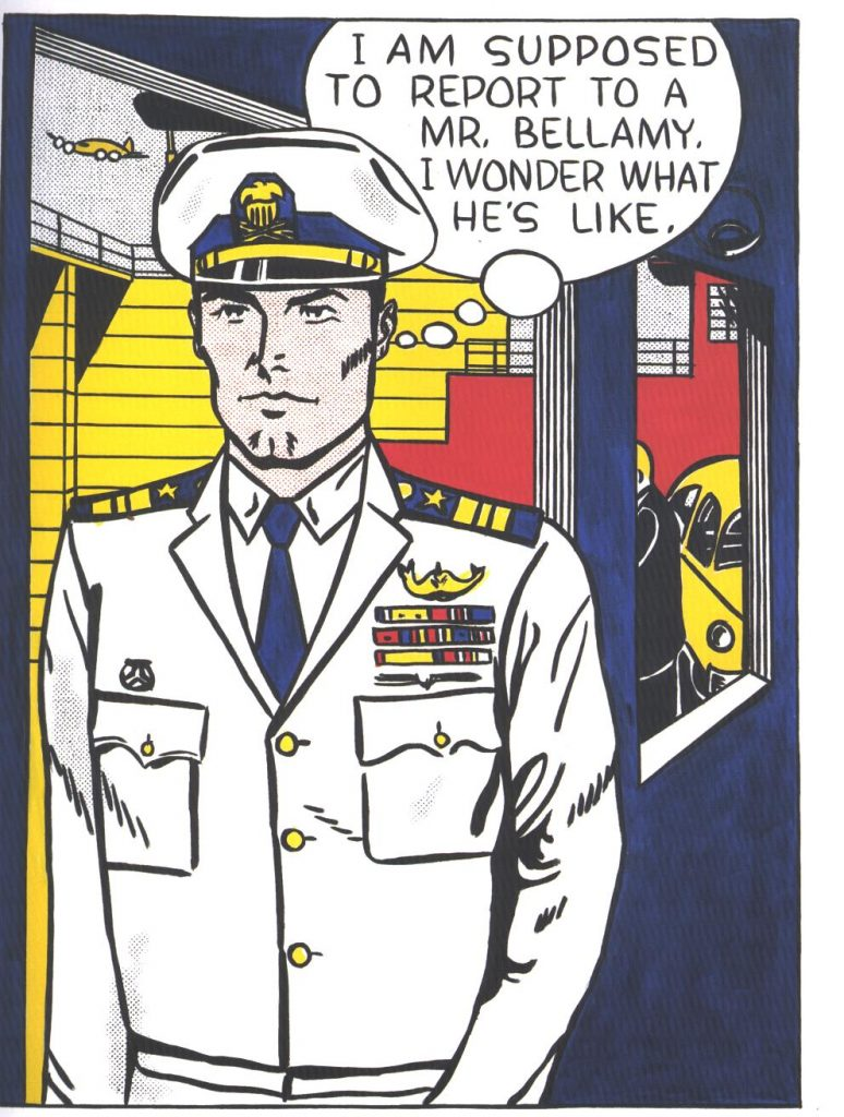 Roy Lichtenstein's Mr. Bellamy (1961), oil on canvas