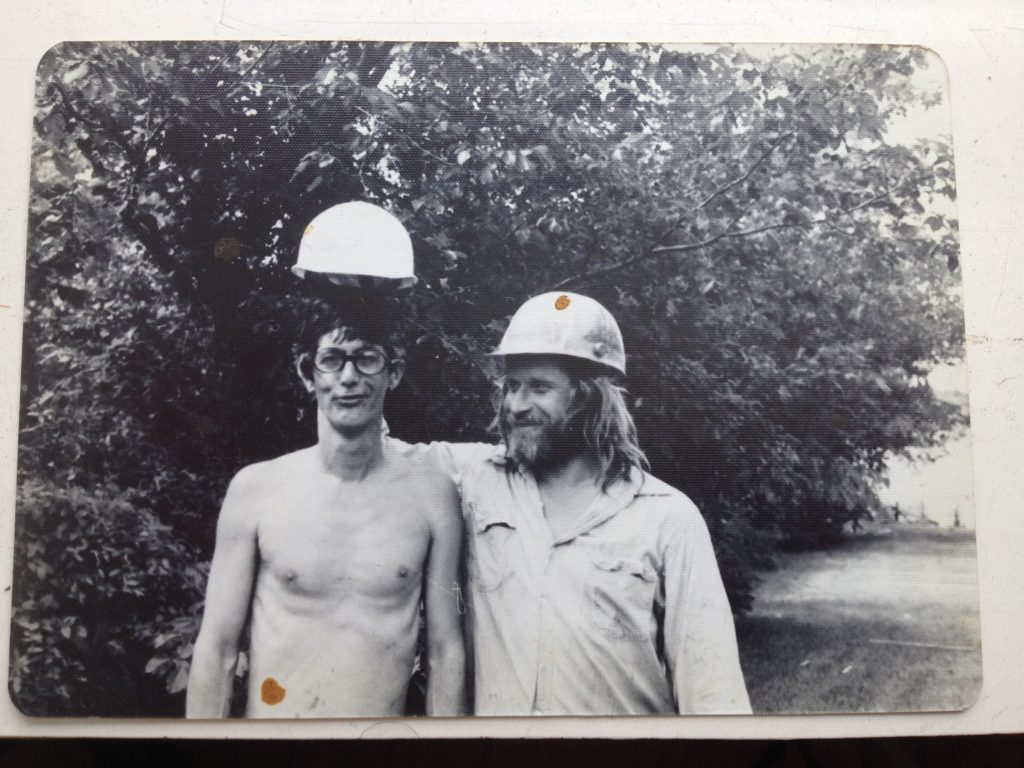 Bellamy and Mark di Suvero in the 1970s