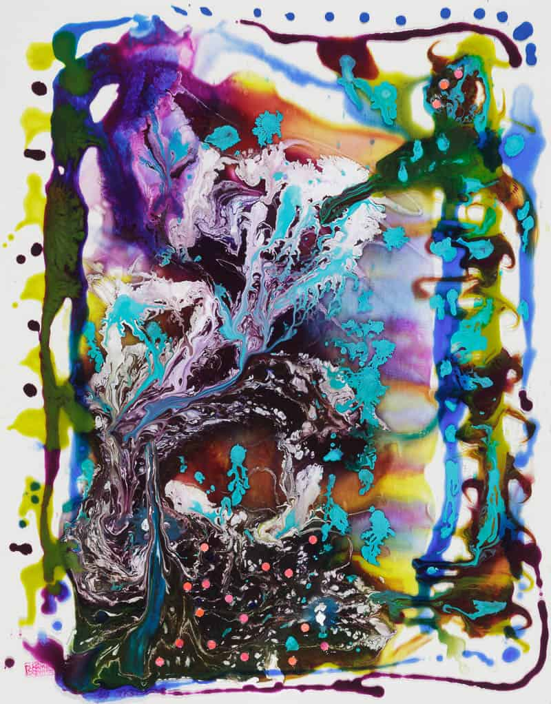 Barbara Kemp Cowlin, Splash (2016), 19 by 20 inches