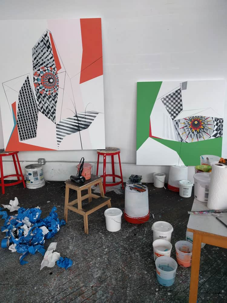 Jane Barthes' studio