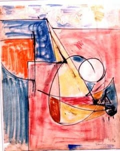Hans Hofmann, Untitled (1954), mixed media on paper, 23-3/4 by 18-3/4 inches, collection of Audrey and David Mirvish