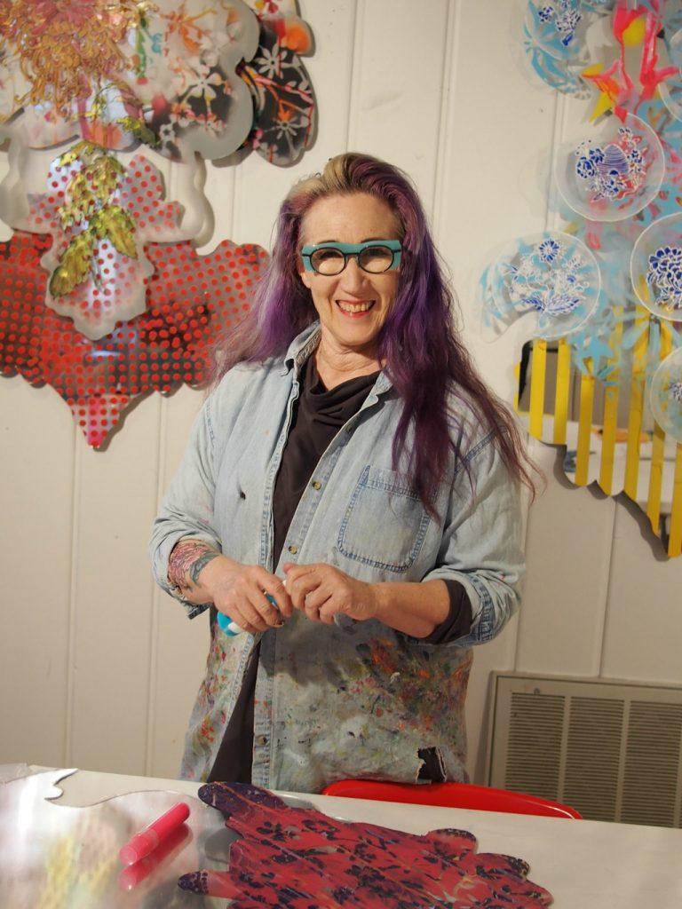 Patti Brady in her studio in Greenville, SC