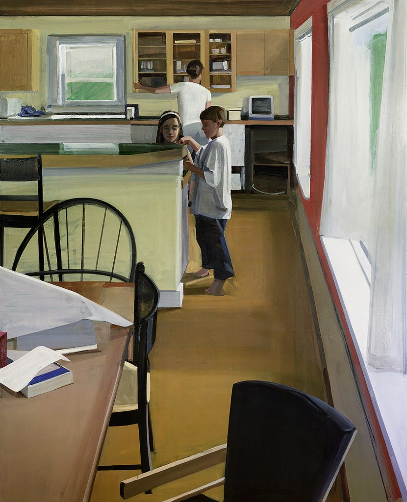 Tiverton Interior (2012), oil on linen, 74 by 64 inches