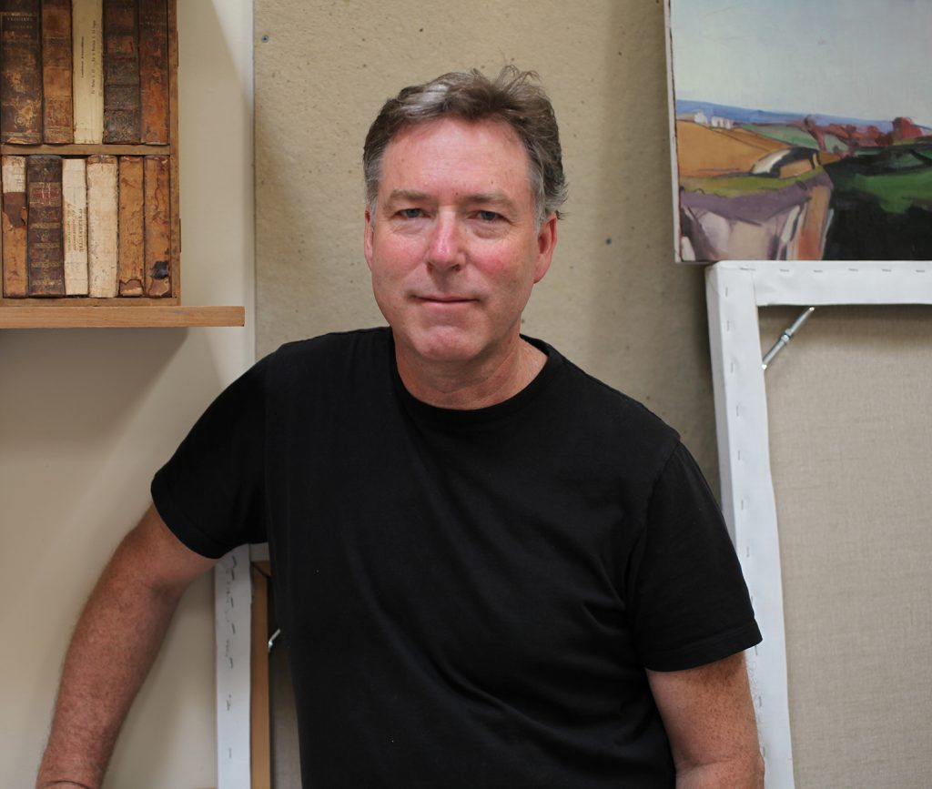 Christopher Benson in his studio