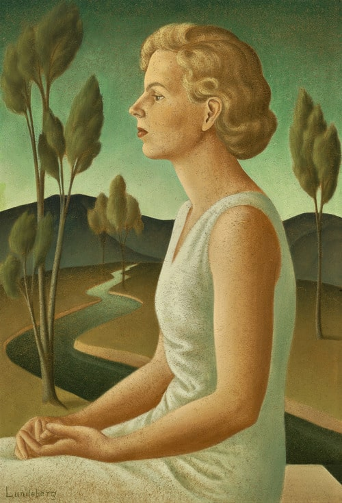 Portrait of Inez (1933), oil on canvas, 36 by 24 inches
