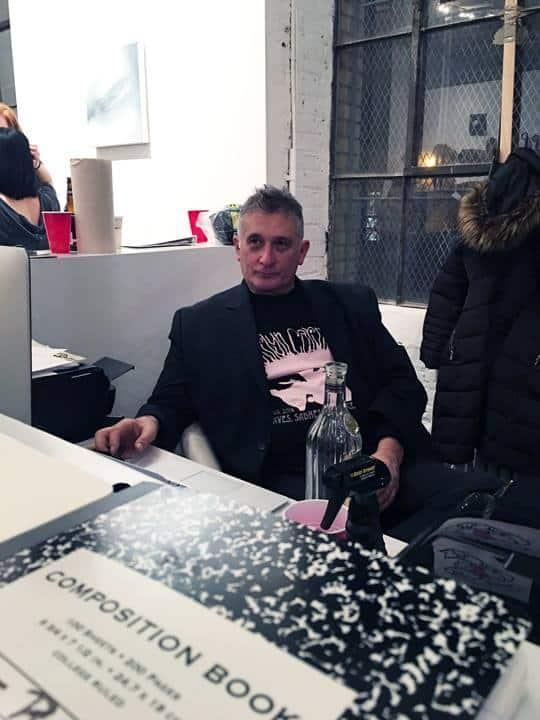 Michael David in his Brooklyn gallery