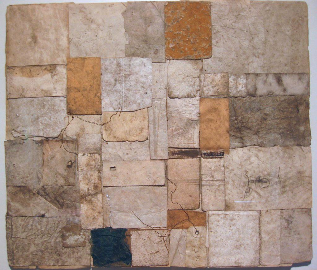 A Robert Nickle scrap-paper collage