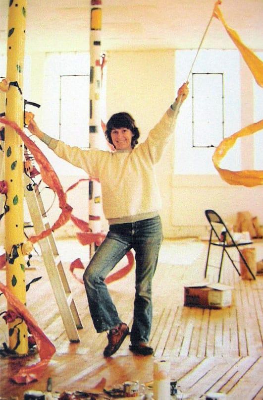 Ree Morton in her studio, 1974