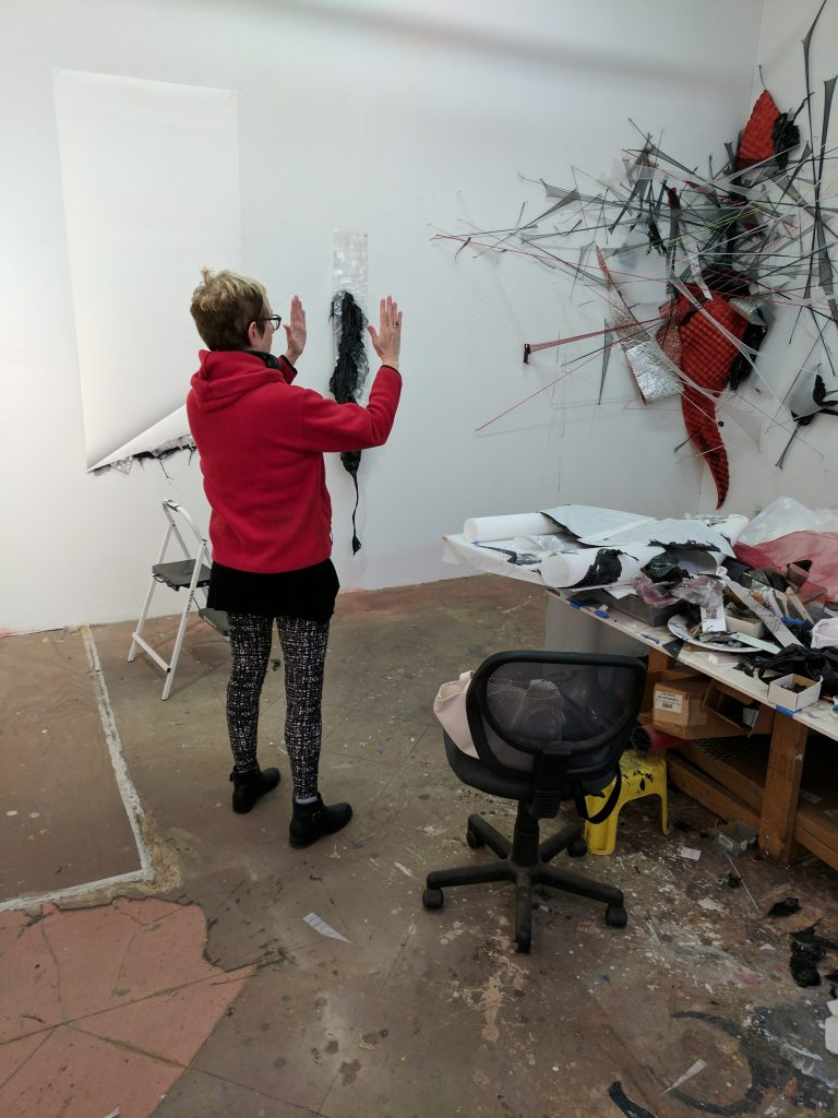 Gelah Penn in her studio