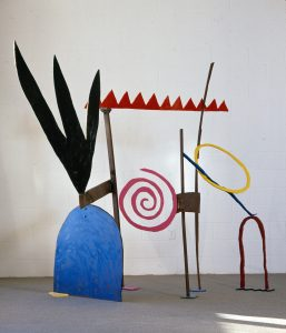 My Way In Is Your Way Out (1996), painted steel, 8 by 8 by 5 feet