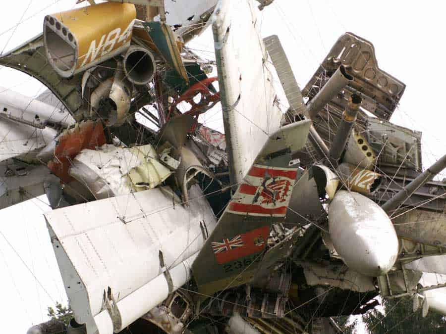 Nancy Rubins, detail, Airplane Parts and Hills (2003)