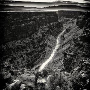Rio Grande Gorge (2014), digital archival print, 16 by 16 inches
