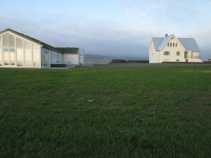 The main house and studio at the Baer Art Center in northeastern Iceland
