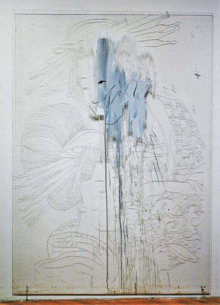 Norton WR, Geisha (2001), carved Plexiglass, 84 by 64 by 2 inches