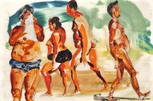 Eric Fischl's untitled watercolor from 2013
