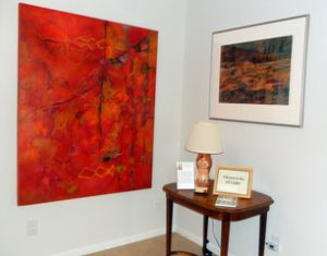 """A corner of her house during Diane Sanborn's """"home show"""""""