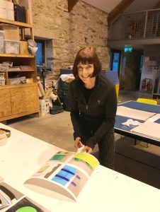 Kate Petley in her studio at Cow House