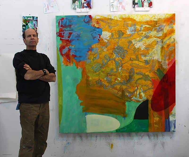 Julian Hatton in his studio