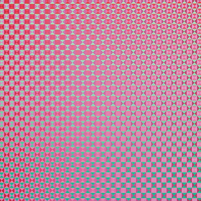 Annell Livingston, Fragments Geometry and Change #215 (2015), 30 by 30 inches, gouache on watercolor paper