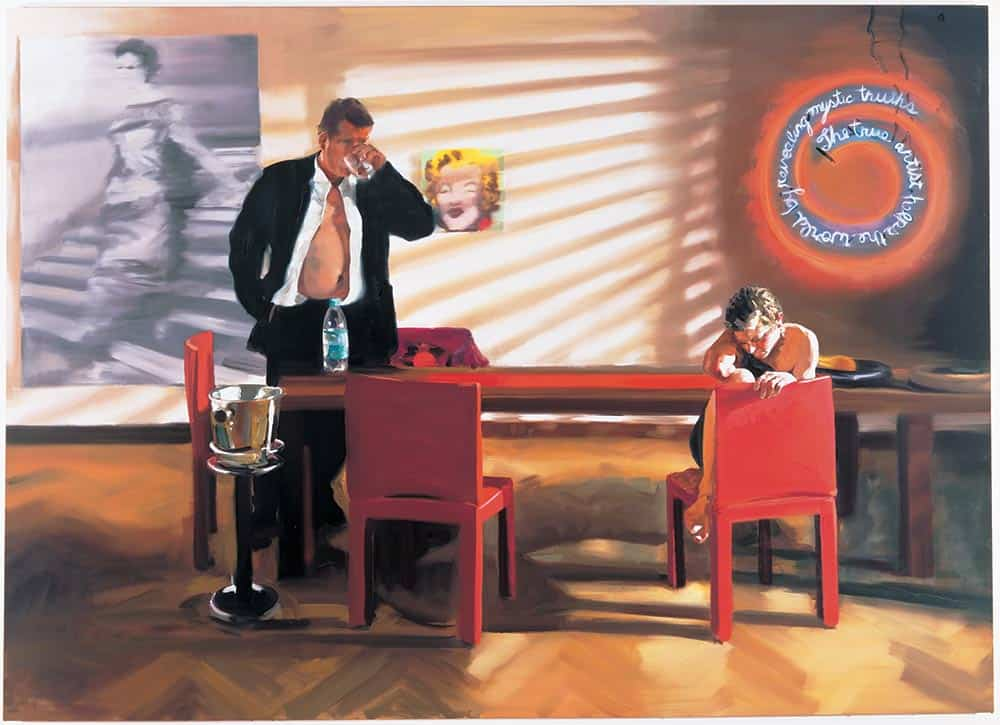 Krefeld Project: Dining Room, Scene #2, painter Eric Fischl