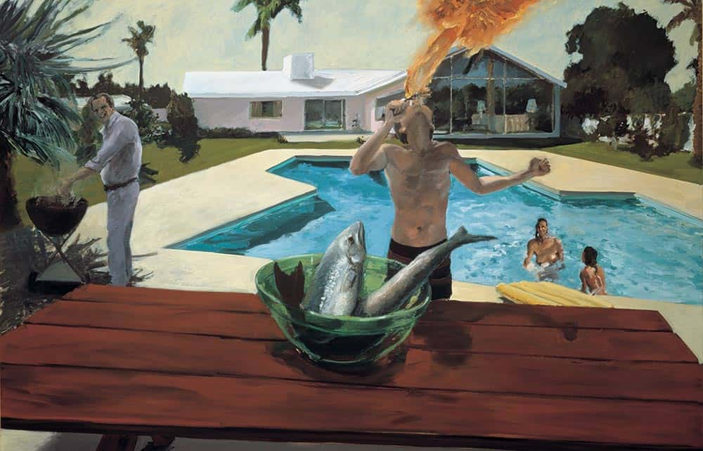 Barbeque, painter Eric Fischl