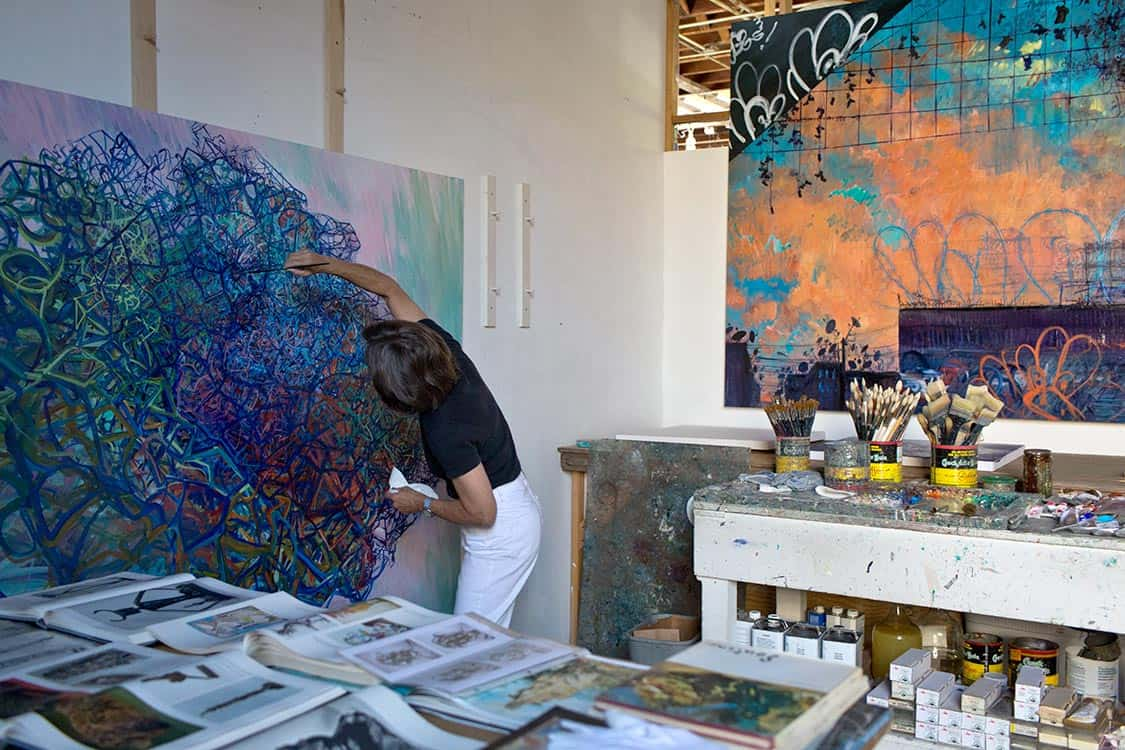 Deborah Brown in her Brooklyn studio