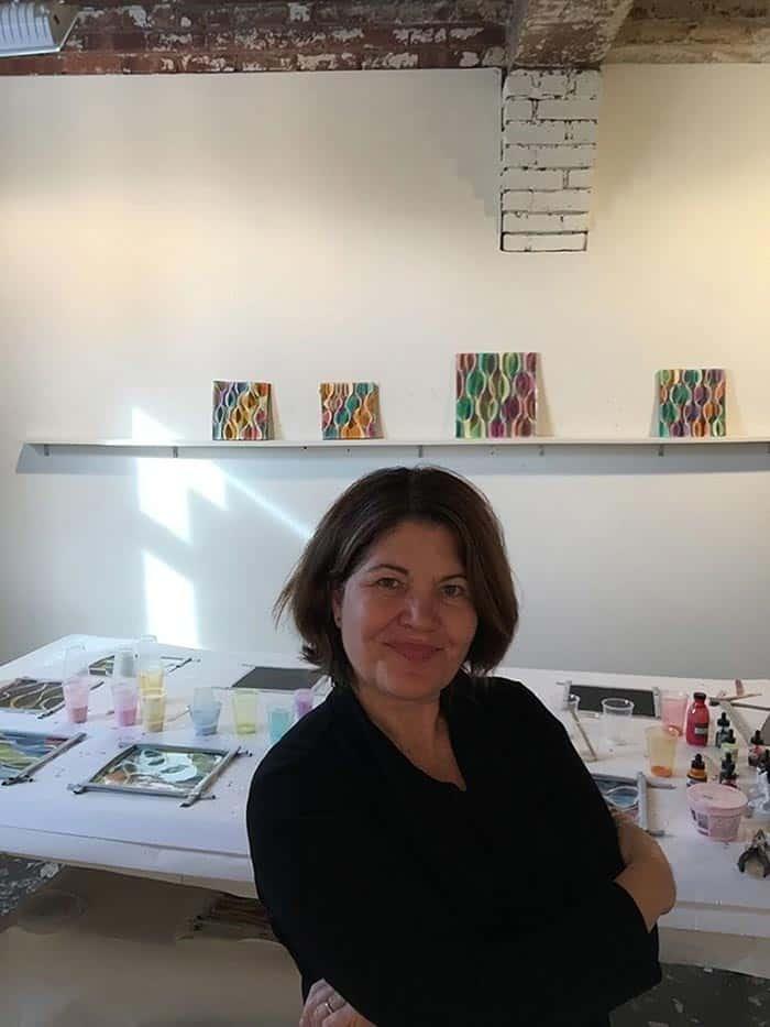 Maureen McQuillan in her artist studio