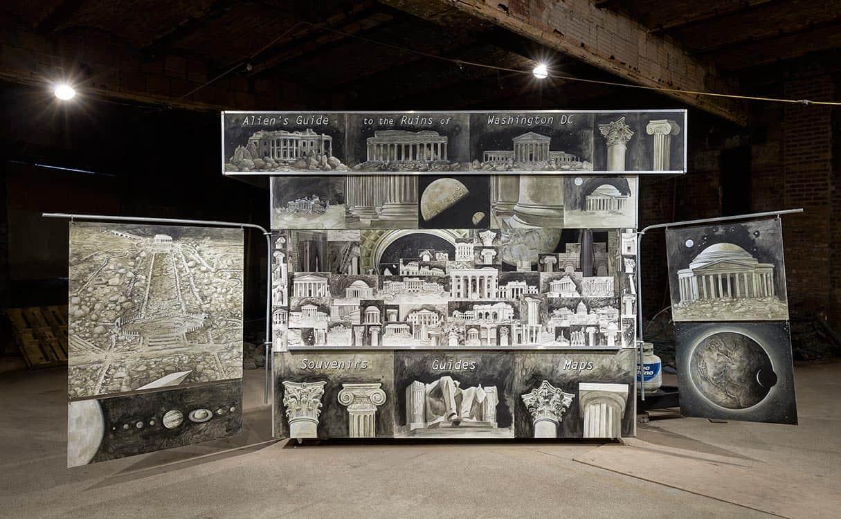 Alien Souvenir Stand, by artist Ellen Harvey