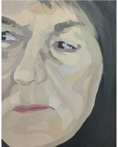 Artist, Sheila Miles, self-portrat