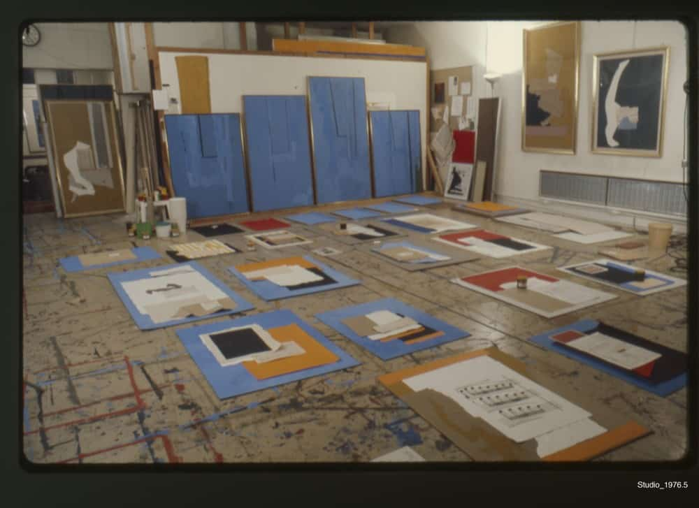 Motherwell's studio in Greenwich, CT