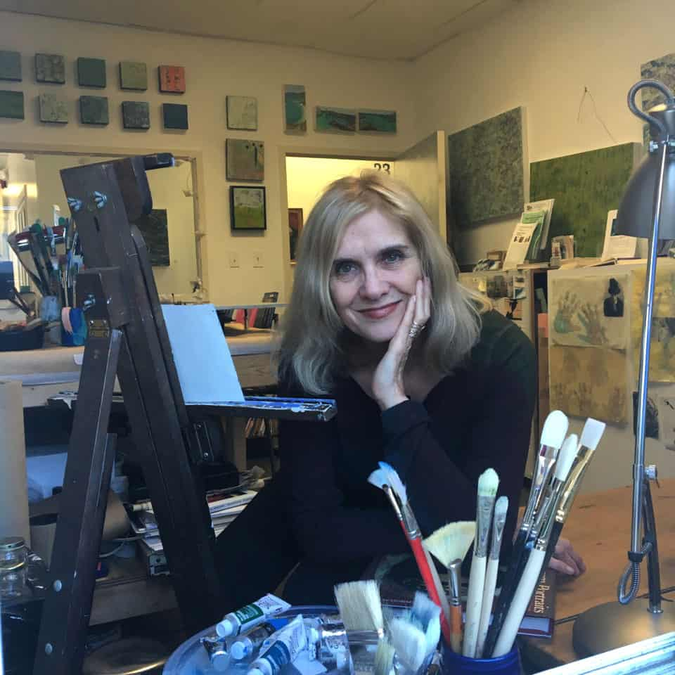 artist, Angela White, teaches encaustic painting workshops in DC and Maryland