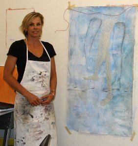 Artist Andrea Broyles in her studio
