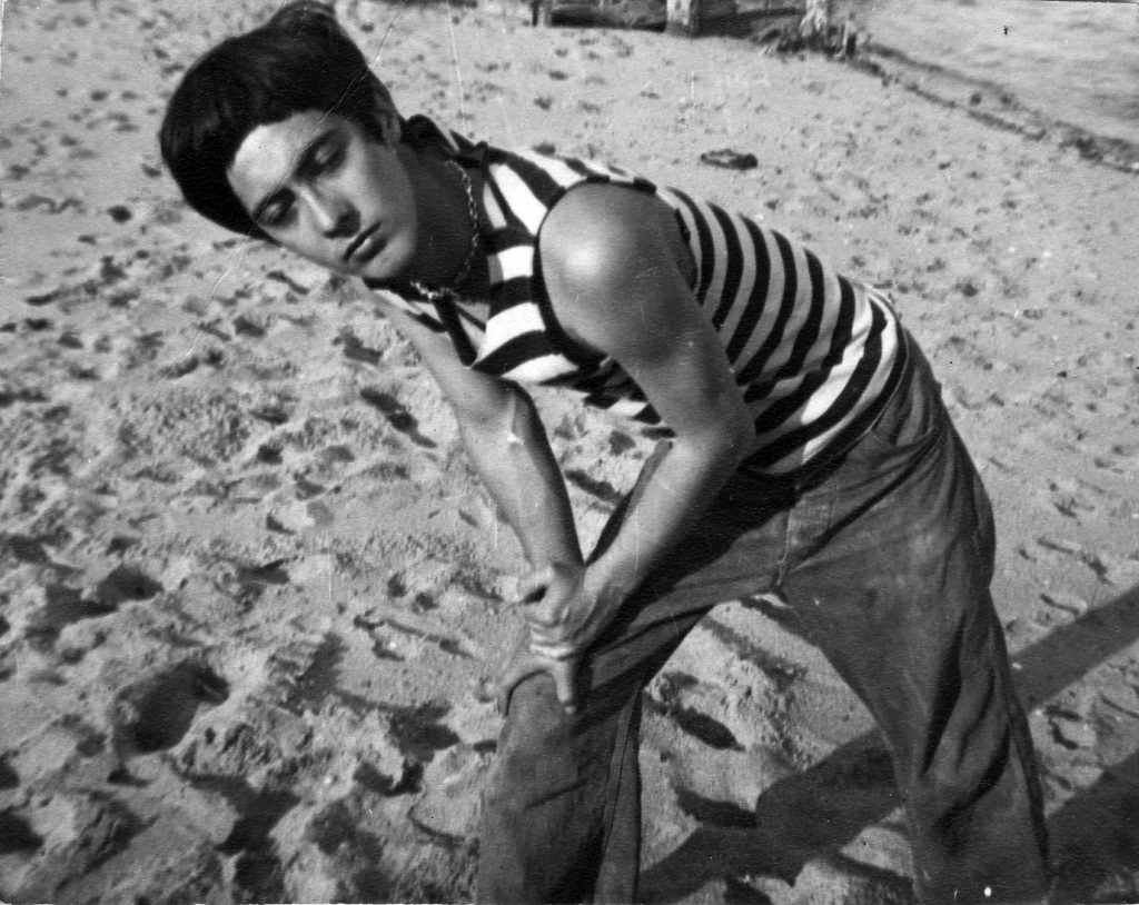A young Dick Bellamy in Provincetown, 1948