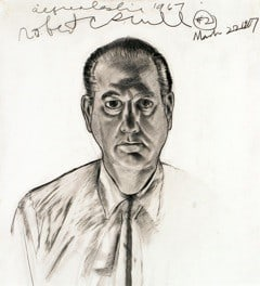 Alfred Leslie's drawing of collector Robert Scull, 1967