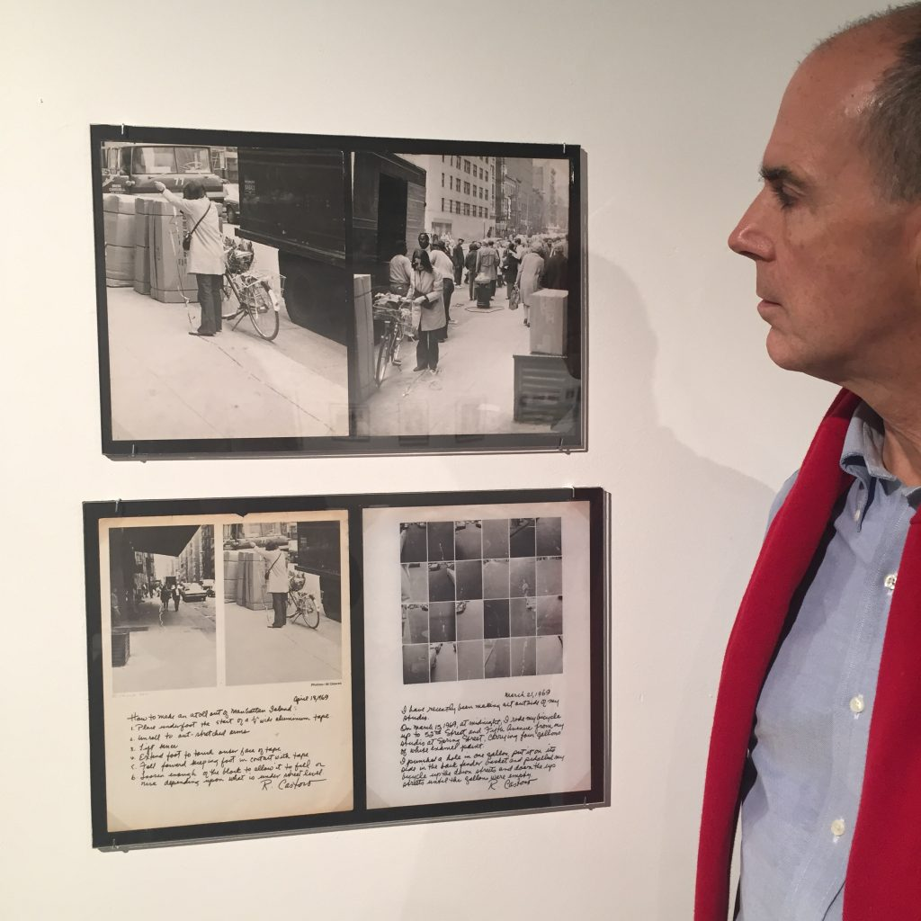 Hal Bromm with works by Rosemarie Castoro