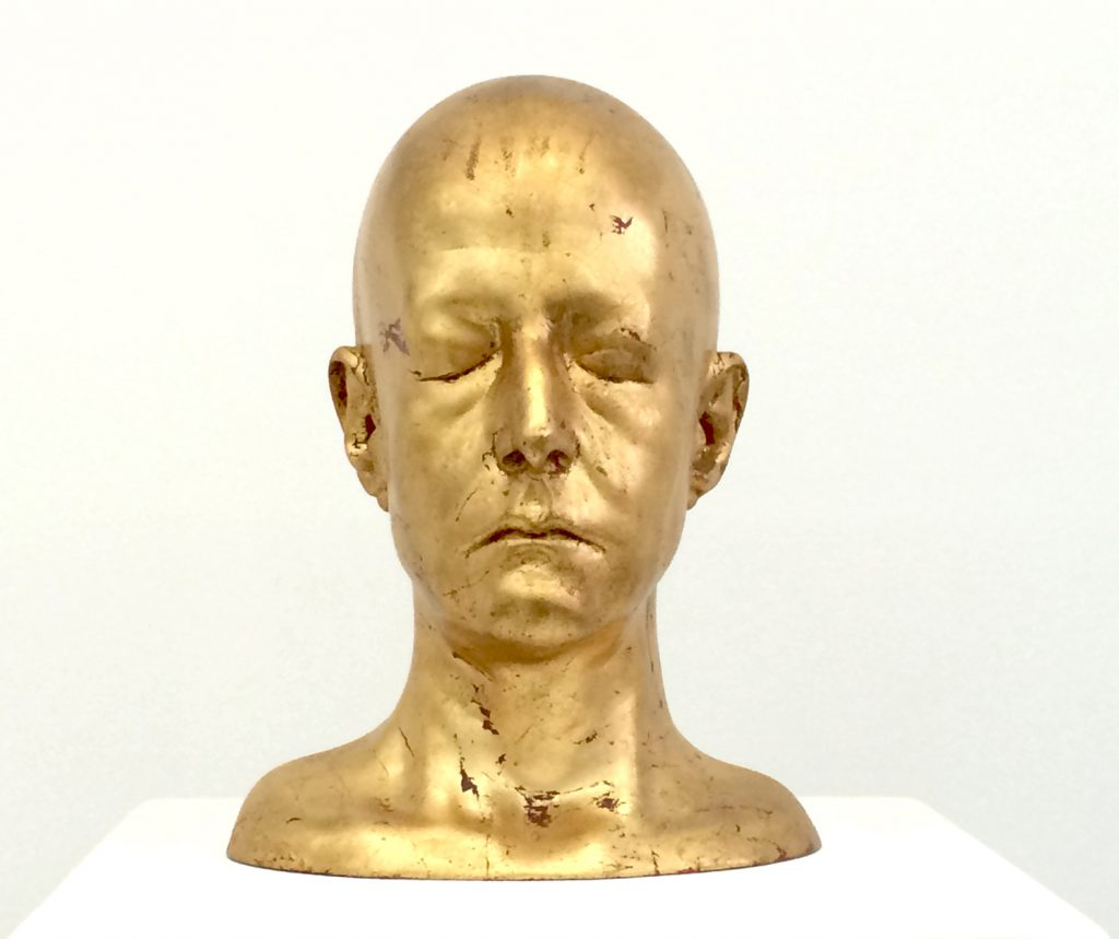 Arlene Rush, Gold Head (eyes closed), 2002)
