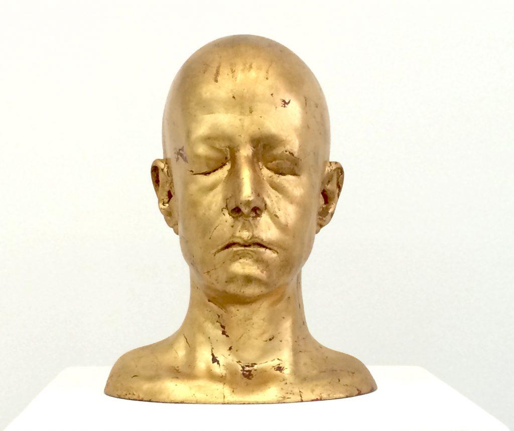 Arlene Rush, Gold Head (eyes closed), 2002)
