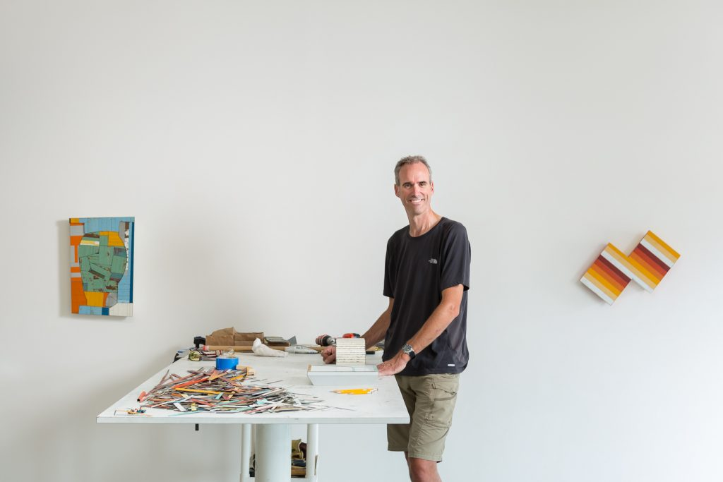 Ted Larsen in his Santa Fe studio