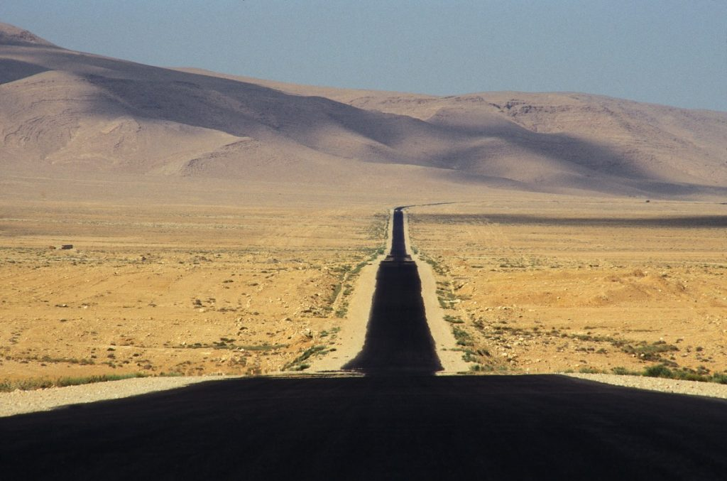 Road from Damascus to Palmyra