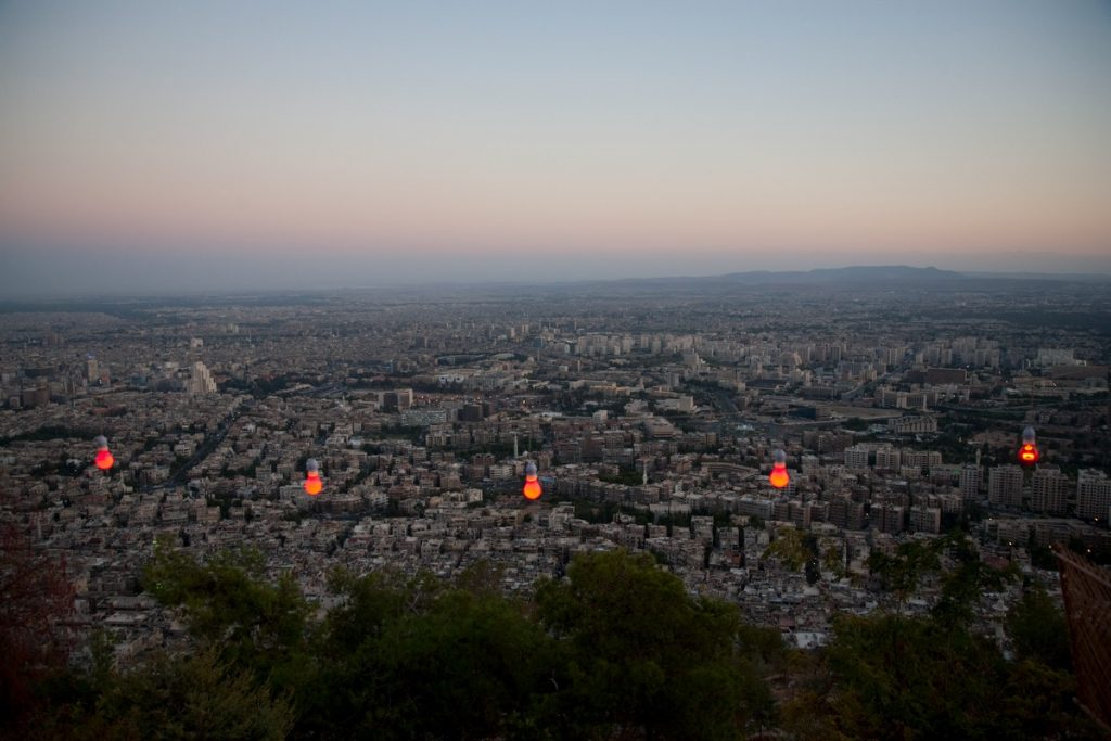 A View of Damascus from High Atop Mount Qassion