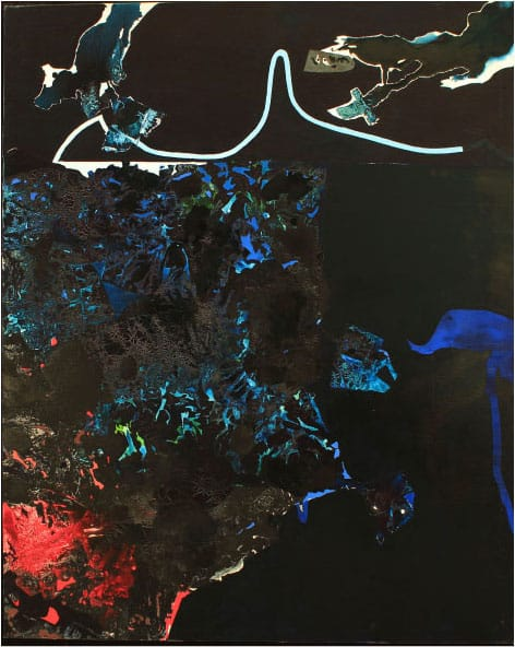Dark Plexus VI (1994), 84.5 by 72 inches