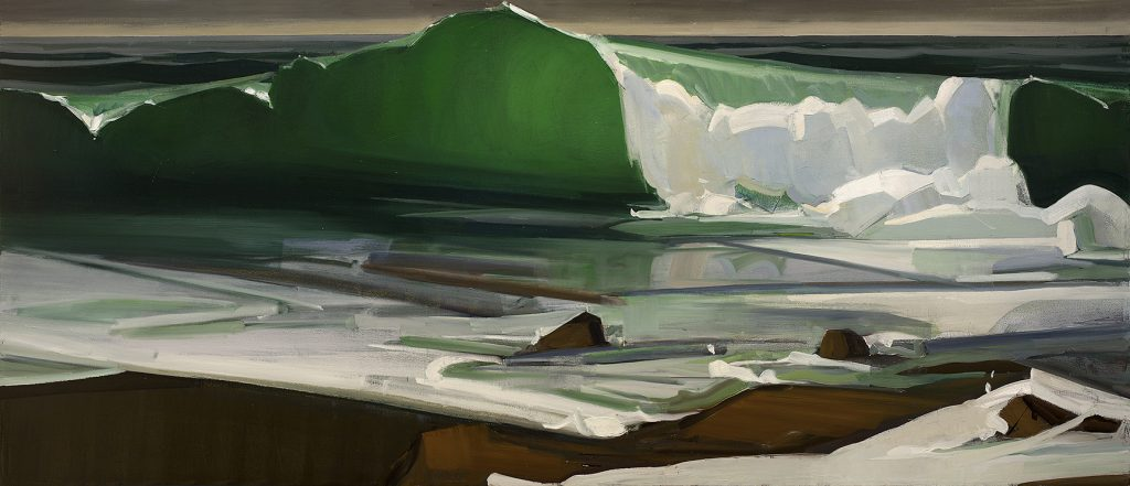 The Wave, after Courbet (2016), oil on linen, 36 by 84 inches